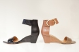 """Ventana"" ankle strap, low wedge career sandal $98.00 at Nine West"